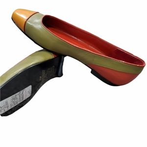 Vintage Amanda Smith Ellen Colorblock Leather Flats